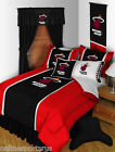 Miami Heat Comforter Shams Sheets Bedskirt Curtains Valance Twin to King Size