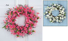 Collections Etc Floral Cherry Blossom Wreath
