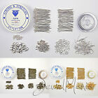 Jewellery Making Starter Kit - Silver Plated Findings Tigertail Cord Thread
