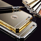 ULTRA-THIN LUXURY ALUMINUM MIRROR METAL FRAME BACK CASE FOR IPHONE 5/5S 6+ PLUS