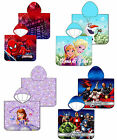Kids Character Poncho Hooded Pool Holiday Towel Disney Frozen Avengers Spiderman