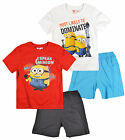 Boys Minions Short Sleeve Pyjamas Kids Despicable Me Pj Set New Age 3 - 8 Years