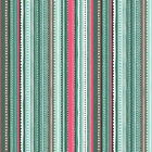 STRIPE TURQUOISE- CATS by MAKOWER 100% COTTON FABRIC PATCHWORK