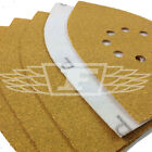 5 PACK MULTI SANDER SHEETS YELLOW ALUMINIUM OXIDE MEDIUM SANDING P80 742039