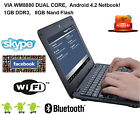 """New 10"""" 8GB Mini Netbook Notebook Android 4.2 1.5GHz Wifi Camera Bluetooth HDMI"""