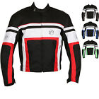 Buffalo Retro Textile Motorcycle Jacket Waterproof CE Approved Armour Windproof