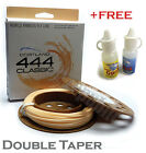 CORTLAND 444 DOUBLE TAPER PEACH FLOATER Fly Line & FREE FLOATANT+SINKANT RRP £63