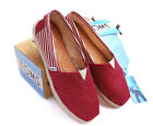 [TOMS] Womens Toms Classic Slip On Red University Flats, Ladies Pumps 01