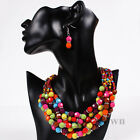 Colorful Resin Big Jewelry Chain Hand-woven Choker Chunky Statement bib Necklace