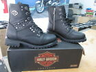 NEW Harley Davidson Womens Leather Boot Boots Shoes Medium Black Ashana