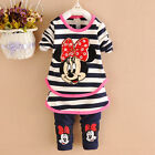 New Adorable babygirl Minnie Mouse outfit set 2pcs track suit size6M-24M