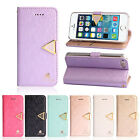 2015 Luxury Diamond Leather Flip Wallet Cover Case For iphone 5 5G 5S Trendy