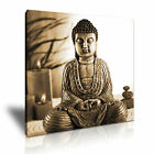 Buddha Canvas Brown Color Rligion Buddhism Home Office Art Wall Deco ~ 9 Size