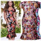 Womens Sexy Illusion Vintage Mermaid Evening Party Summer Wedding Dresses