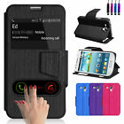 Flip Wallet Leather Case Cover For SAMSUNG Galaxy S3 Mini i8190 Screen Protector