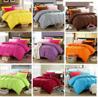 Soft Solid  Bed Doona Duvet Quilt Cover + 2 Pillowcases Set