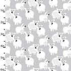 GREY SHEEP - STUDIO E - COTTON FABRIC CUTE CHILDREN LAMBS FARM