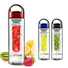 800ML Fruit Fuzer Infusing Infuser Water Bottle Sports Health Juice maker