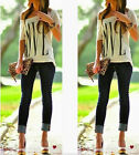 Fashion Women Summer One Shoulder Short Sleeve Casual Loose Tops T-Shirt Blouse