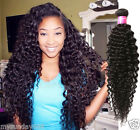 "Afro 6A Malaysian Human Hair Extensions10""-30"" Natural Black Curly Wave Wefts"
