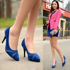 C8 US Womens Stilettos High Heels Spring Faux Suede Pumps Sexy Court Shoes