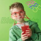 Fun Drinking Unique Flexible Novelty Soft Straw Glasses Drinking Tube For Kid BL