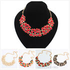 New Gorgeous Jewelry Crystal Chunky Statement Bib Pendant Chain Necklace collar