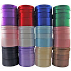 """22 Metres Of 15mm (5/8"""") SINGLE FACED Sided SATIN RIBBON Rolls - Many Colours"""