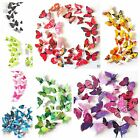 12 Pieces 3d Butterfly Art Decal Home Decor Pvc Butterflies Wall Mural Stickers