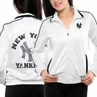 New York Yankees Tag Up Full Zip Track Jacket - White