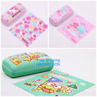 2015 SANRIO HELLO KITTY KERROPI PLUSH GLASSES CASE W/ CLEANING CLOTH SET