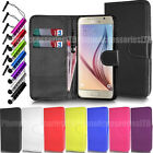 For Samsung Galaxy S6 Edge Phone Case Wallet Cover Leather Book Flip + Stylus