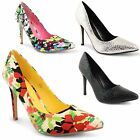 Womens Ladies Dolcis Office Smart Work Party High Heel Stiletto Point Court Shoe