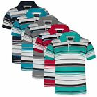 BOYS STRIPY PIQUE POLO SHIRT KIDS SHORT SLEEVE SUMMER T-SHIRT TOP SIZE 3-14 YEAR