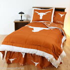Texas Longhorns Comforter Sham and Valance Twin to King Size Reversible