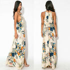 New Fashion Sexy Women Floral Evening Party Cocktail Beach Dress Gown Full Dress