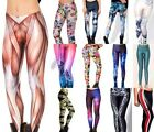 Sexy 3D Graphic Printed Women Leggings Yoga Gym Dance Party Club BH BX02