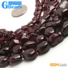 Natural Dark Red Garnet Gemstone Beads For Jewelry Making Free Shipping 15""