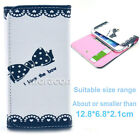 Universal Wallet T52 Card Purse Button Flip Case Cover For Many Phones+Stylus