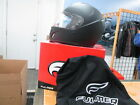 Fulmer Flat Black Full Face Ventilated Helmet w/ Clear Shield AFN4 AF-N4 N4 015