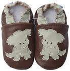 carozoo UK new designs leather soft sole baby shoes slippers up to 8 years