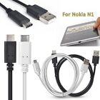 USB 3.1 Type C Female to USB 2.0 A Male 10GB/S Charge Sync Cable For Nokia N1