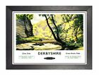 Derbyshire 2 Railway Vintage Chee Dale Amazing Poster East Midlands Advert Photo