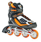 NEW! ROLLER DERBY HORNET ADJUSTABLE INLINE SKATES BOY'S 12-2 ROLLERBLADES return