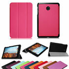 For Verizon Ellipsis 8 4G LTE Tablet PU Leather Slim Flip Cover Stand Case