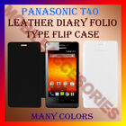 LEATHER DIARY FOLIO FLIP FLAP CASE For PANASONIC T40 MOBILE FRONT/BACK COVER NEW