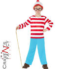 Licensed Boys Where's Wally Kids Child Fancy Dress Costume Book Week Age 4 - 12