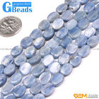 Natural Blue Kyanite Gemstone Oval Flat Beads For Jewelry Making Free Shipping