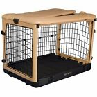"Pet Gear The Other Door 36"" Tan Steel Dog  Crate with fleece pad & carrying bag"