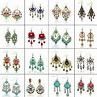 Vintage Chandelier Acrylic Charm Bohemian Tassel Fringe Dangle Hook Earrings
